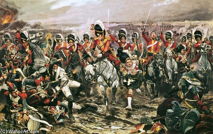 responsable de le scots greys Au Waterloo de Richard Caton De Woodville (1856-1927, United States) | Reproduction Peinture | WahooArt.com