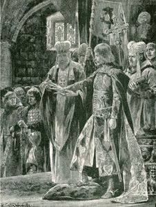 Richard Caton De Woodville - L investiture de Guillaume II avec la bague