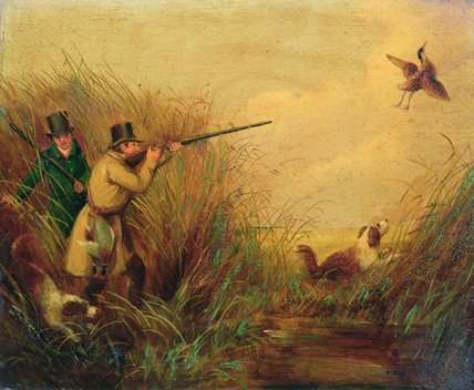 Canard tournage Parmi Reeds de Samuel John Egbert Jones (1797-1861, United Kingdom)