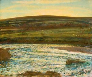 Alfred James Munnings - Brightworthy Ford, Withypool, Exmoor - (17)