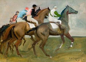 Alfred James Munnings - Etude pour Start -
