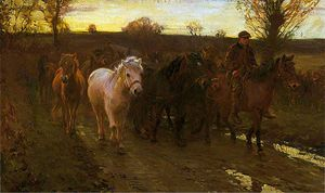Alfred James Munnings - voyageurs