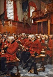 Hubert Von Herkomer - The Last Muster, dimanche à l Hôpital Royal