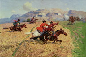 Franz Alexeevich Roubaud - cosaques charge into battle