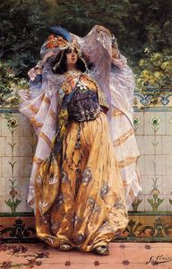 Georges Jules Victor Clairin - Une ouled nail tribal Danseur