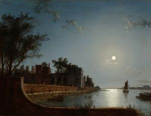 Henry Pether - lambeth palace par clair de lune