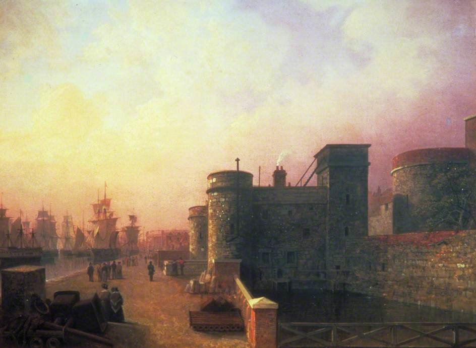Traitor's Porte , tour de Londres de Henry Pether (1828-1865, United Kingdom)