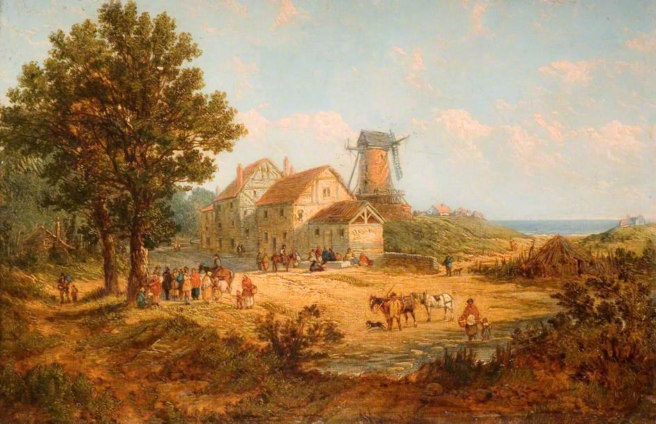 Achat Reproductions D'art | moulin à vent de James Netherlands (1799-1870, United Kingdom) | WahooArt.com
