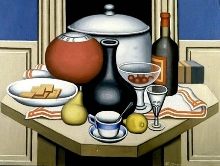 nature morte avec noir vase de Jean Dominique Antony Metzinger (1883-1956, France)
