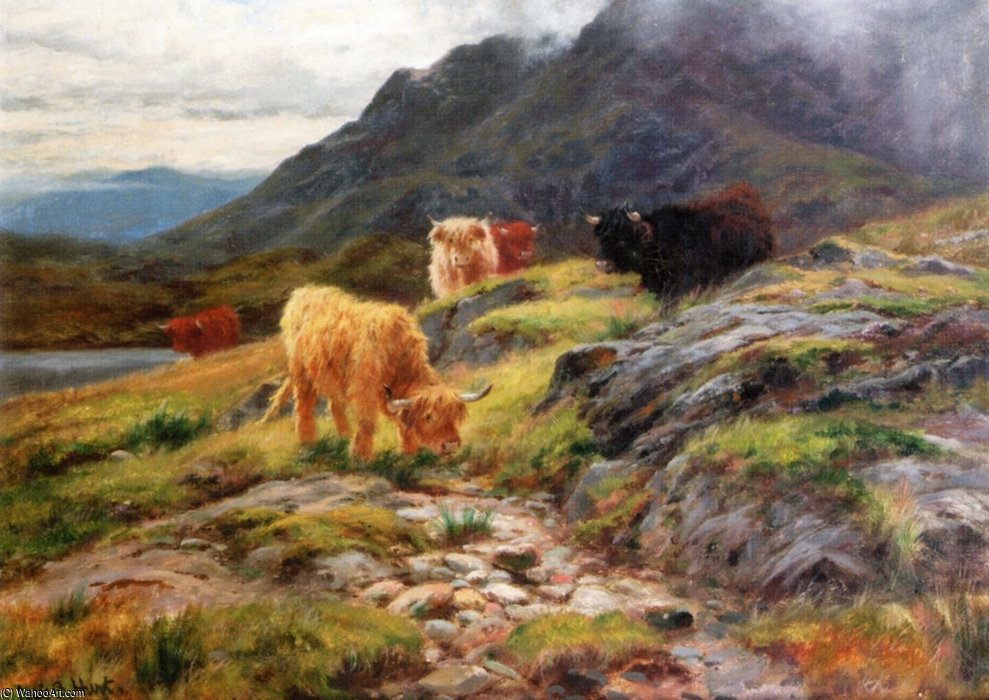 Byscuir-na-gillean , Skye de Louis Bosworth Hurt (1856-1929, United Kingdom) | Copie Tableau | WahooArt.com