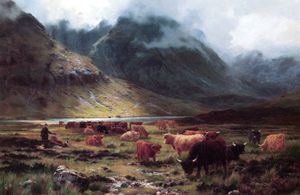 Louis Bosworth Hurt - Highland Cattle In A Glen