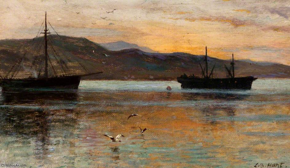 Le Afterglow, Sound Of Bressay, Shetland de Louis Bosworth Hurt (1856-1929, United Kingdom)