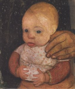 Paula Modersohn Becker - infant avec Mother's Main