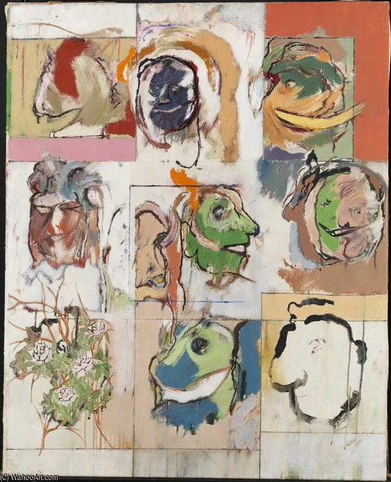 Variations Erasmus de Ronald Brooks Kitaj (1932-2007, United States)