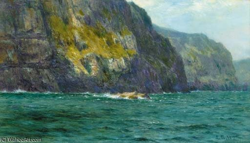 Falaises de st . Kilda de Louis Bosworth Hurt (1856-1929, United Kingdom)