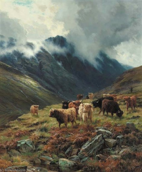Glencoe , Traînant Brumes de Louis Bosworth Hurt (1856-1929, United Kingdom)
