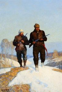 Nc Wyeth - cerf Chasseurs