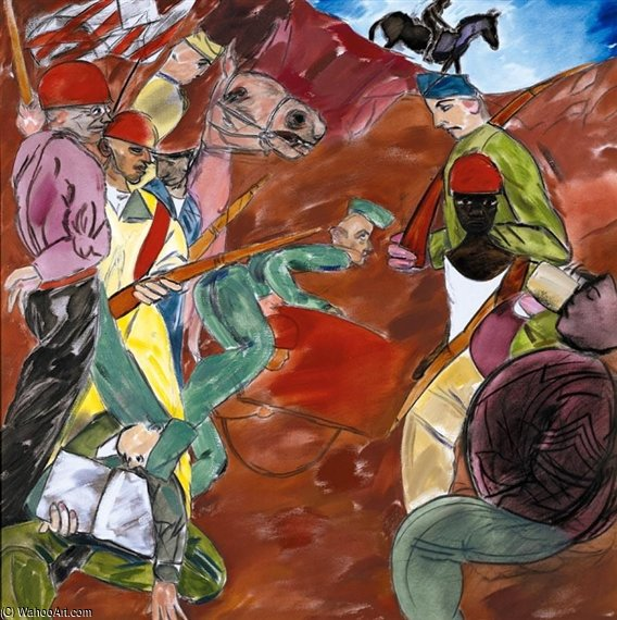 Fortin Dix de Ronald Brooks Kitaj (1932-2007, United States)