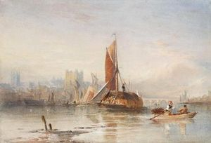 Thomas Sewell Robins - Haybarges Sur Le Medway