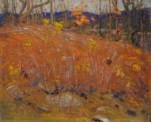 Thomas Thompson - de marron Buissons en retard L'automne
