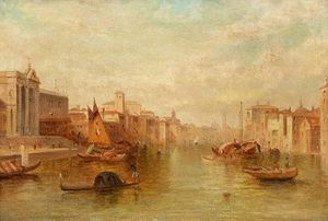 Alfred Pollentine - le canal Grande a venise
