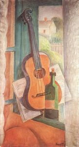 Janos Kmetty - Nature morte avec Guitar