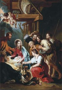 Willem Van Herp The Elder - Nativité