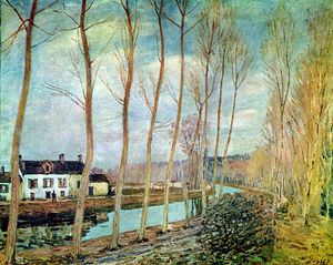 Alfred Sisley - canal du loing ensoleillé
