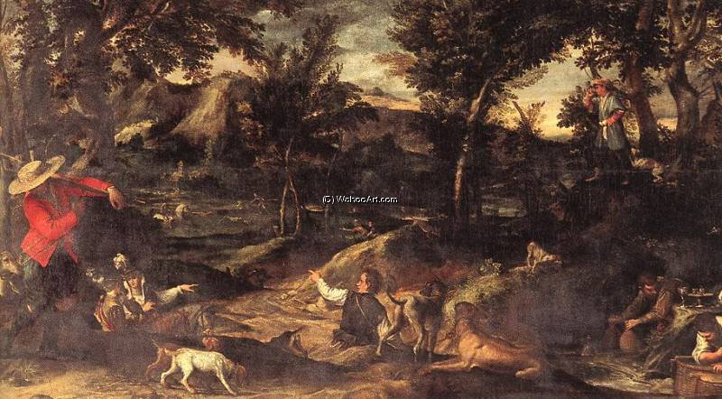 chasse de Annibale Carracci (1560-1609, Italy) | Reproductions D'œuvres D'art Annibale Carracci | WahooArt.com