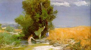 Arnold Bocklin - Nymphes bain