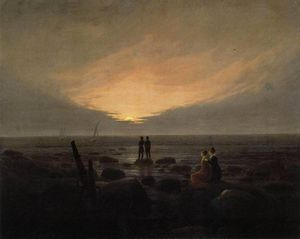 Caspar David Friedrich - Moonrise par le Sea