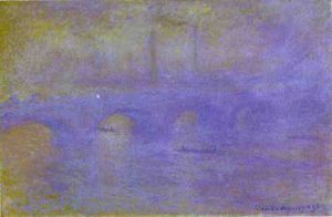 Claude Monet - le pont de Waterloo. le brouillard