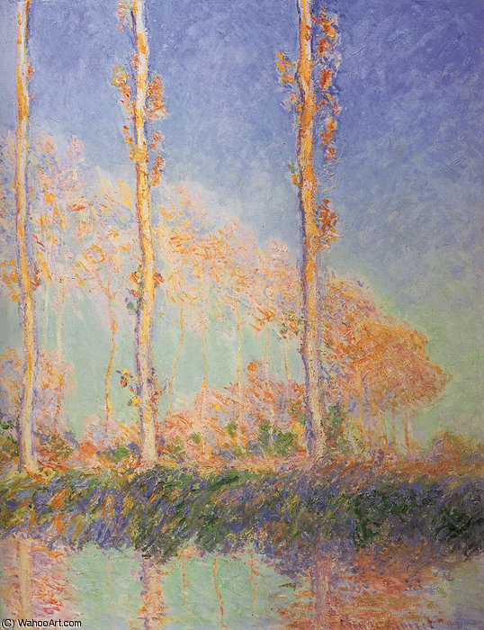 peupliers, 1891 de Claude Monet (1840-1926, France)