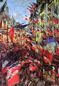 Claude Monet - Rue Saint-Denis fête Sun