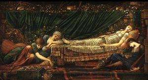 Edward Coley Burne-Jones - belle endormie