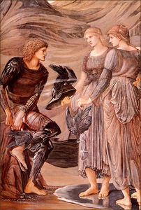 Edward Coley Burne-Jones - L armement de Persée détail