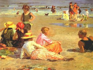 Edward Henry Potthast - manhattan plage