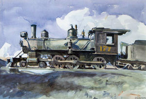 Edward Hopper - ré . & r . g . locomotive