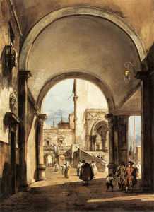 Francesco Lazzaro Guardi - un caprice architectural