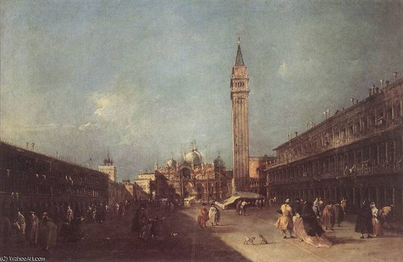 piazza san marco de Francesco Lazzaro Guardi (1712-1793, Italy) | Copie Tableau | WahooArt.com
