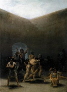 Francisco De Goya - La cour d une Madhouse