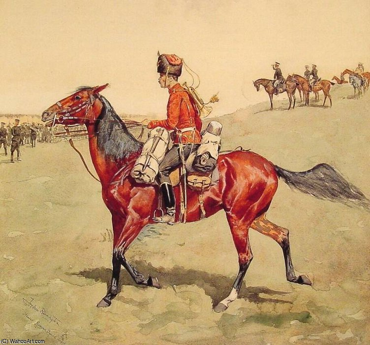 Hussard Russe  garde  le corps  de Frederic Remington (1861-1909, United States)