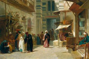 Frederick Goodall - l'opium bazar  Caire