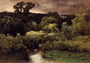 George Inness - une journée grise lowery