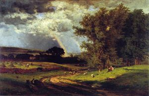George Inness - une douche passant