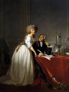 Jacques Louis David - Portrait d Antoine Laurent Lavoisier et Marie Anne