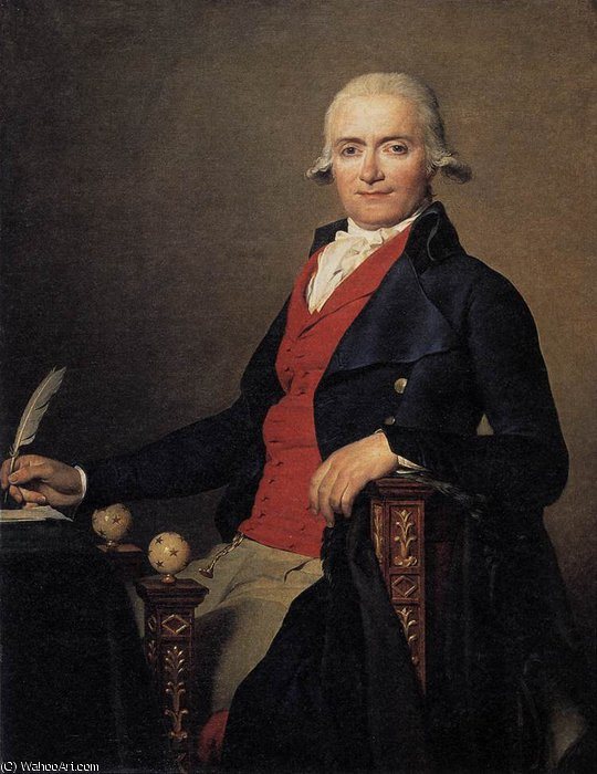 Portrait de gaspar mayer de Jacques Louis David (1748-1800, France) | Copie Tableau | WahooArt.com