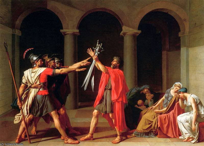 Le Serment des Horaces de Jacques Louis David (1748-1800, France)