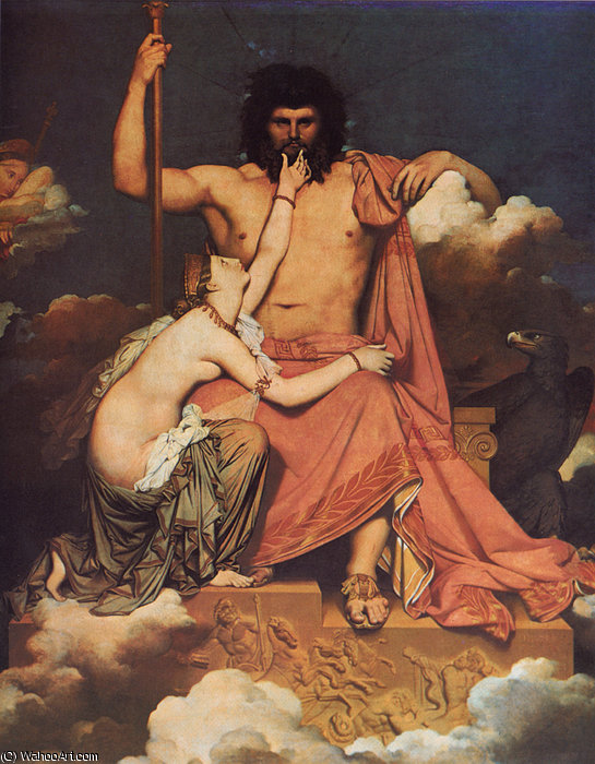 Jupiter et Thétis de Jean Auguste Dominique Ingres (1780-1867, France)