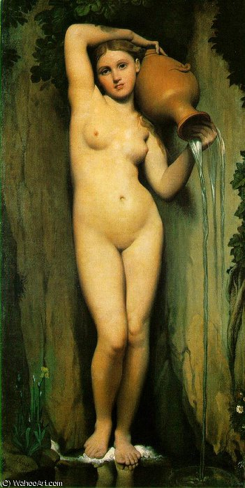 La source - -, 1856 de Jean Auguste Dominique Ingres (1780-1867, France)